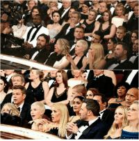 At the oscars ( LaLaLand was announced as the winner when it was really Moonlight), this photo captures the reactions of audience members.: At the oscars ( LaLaLand was announced as the winner when it was really Moonlight), this photo captures the reactions of audience members.