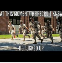 . ✅ Double tap the pic ✅ Tag your friends ✅ Check link in my bio for badass stuff - usarmy 2ndamendment soldier navyseals gun flag army operator troops tactical sniper armedforces k9 weapon patriot marine usmc veteran veterans usa america merica american coastguard airman usnavy militarylife military airforce libertyalliance: AT THIS MOMENT THE RECRUIT KNEW  HE FUCKED UP . ✅ Double tap the pic ✅ Tag your friends ✅ Check link in my bio for badass stuff - usarmy 2ndamendment soldier navyseals gun flag army operator troops tactical sniper armedforces k9 weapon patriot marine usmc veteran veterans usa america merica american coastguard airman usnavy militarylife military airforce libertyalliance