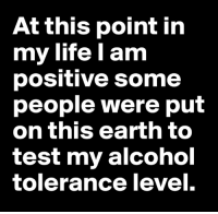 Life, Memes, and Alcohol: At this point in  my life l am  positive some  people were put  on this earth to  test my alcohol  tolerance level