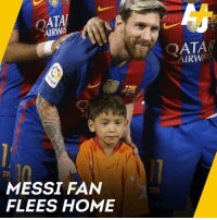 0cdb24967 ATA AIRW FIFA QATAR AIRWAYS 4 MESSI FAN FLEES HOME 2 This Afghan Boy Met  Lionel Messi After Going Viral for Wearing a Jersey Made From a Plastic Bag  Now ...