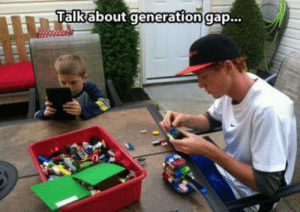 Tell me about it.: ATalkabout generation gap... Tell me about it.