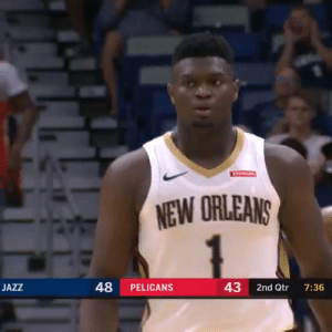 Zion Williamson 🔥 26 PTS (9-12 FG, 1-1 3PT)  Over the last 2 games:  55 PTS in 50 MINS 21-25 FG (84%)   https://t.co/4lFiVUWviB: ATARAINS  NEW ORLEANS  48  43  JAZZ  PELICANS  2nd Qtr  7:36 Zion Williamson 🔥 26 PTS (9-12 FG, 1-1 3PT)  Over the last 2 games:  55 PTS in 50 MINS 21-25 FG (84%)   https://t.co/4lFiVUWviB
