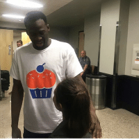 Basketball, Golden State Warriors, and Sports: ATC Some of the Warriors players grabbed souvenirs before leaving Chesapeake Energy Arena. Here is Draymond wearing his. 🎂(via @thompsonscribe)