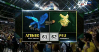Blue, Eagle, and Filipino (Language): ATENEO  61 62  BLUE EAGLES  FEU  TAMARAWS  FINAL grabe! Puso!!! nakakaiyak! Good job boys!! 1 game at a time