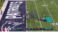 Nfl, Goat, and Goal: Ath &  GOAL  PHI 15  NE 12 2nd :38 6 4th & Goal FOLES MAKES THE CATCH WHEN BRADY CAN'T OFFICIAL GOAT STATUS ACHIEVED https://t.co/KOPAM2bLOw