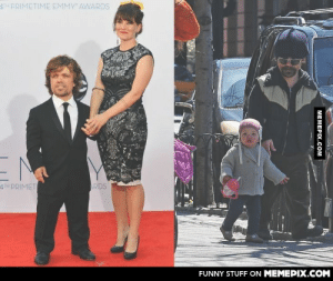 Peter Dinklage (Game of thrones) with his wife and daughteromg-humor.tumblr.com: ATH PRIMETIME EMMY AWARDS  4TH PRIMET  ARDS  FUNNY STUFF ON MEMEPIX.COM  MEMEPIX.COM Peter Dinklage (Game of thrones) with his wife and daughteromg-humor.tumblr.com