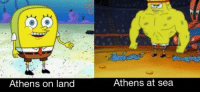 An interesting title: Athens on land  Athens at sea An interesting title