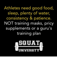 The strength and conditioning industry has been over-monetized & measures success by providing the athlete with things they WANT instead of what they NEED. Get a t-shirt, massage and a smoothie with every workout - because that's what athletes need to become elite? Right? 🤔 . Our production based society has led us to re-arrange our athletic priories to think these things are essential pieces to success ❌ . It's rarely a special type of programming, pricy supplement or training tool that drives an athlete to become elite. Instead, it's a profound mastery of factors what many would consider basic: good nutrition, lots of sleep, and a commitment to getting into the gym & doing things the RIGHT WAY✅ _________________________________ Squat SquatUniversity Powerlifting weightlifting crossfit training wod workout gym fit fitfam fitness fitspo oly olympicweightlifting hookgrip mobility USAW physicaltherapy lifting crossfitter quote instaquote motivation motivationalquotes: Athletes need good food  sleep, plenty of water  consistency & patience.  NOT training masks, pricy  supplements or a guru's  training plan  SQUAT  UNIVERSITY The strength and conditioning industry has been over-monetized & measures success by providing the athlete with things they WANT instead of what they NEED. Get a t-shirt, massage and a smoothie with every workout - because that's what athletes need to become elite? Right? 🤔 . Our production based society has led us to re-arrange our athletic priories to think these things are essential pieces to success ❌ . It's rarely a special type of programming, pricy supplement or training tool that drives an athlete to become elite. Instead, it's a profound mastery of factors what many would consider basic: good nutrition, lots of sleep, and a commitment to getting into the gym & doing things the RIGHT WAY✅ _________________________________ Squat SquatUniversity Powerlifting weightlifting crossfit training wod workout gym fit fitfam fitness fitspo oly olympic