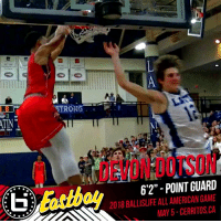 """Excited to announce @d_dotson1 is a Ballislife All-American!  Stay locked on Ballislife as we release the rest of the roster! #BILAAG https://t.co/YJK64fwU76: ATIN  DEVON DOTSON  Eastbay  6'2"""" - POINT GUARD  2018 BALLISLIFE ALL AMERICAN GAME  MAY 5-CERRITOS CA Excited to announce @d_dotson1 is a Ballislife All-American!  Stay locked on Ballislife as we release the rest of the roster! #BILAAG https://t.co/YJK64fwU76"""