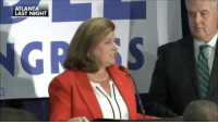 Memes, Trump, and Video: ATLANT  LAST NIGHT VIDEO: The crowd burst into a 'Trump' chant when KarenHandel thanked President DonaldTrump in her victory speech.