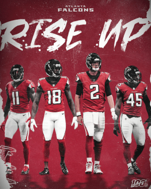 The @AtlantaFalcons Rise Up on Sunday night! #InBrotherhood #PHIvsATL https://t.co/248sq6G4qq: ATLANTA  FALCONS  RISE UP  18  45  GN The @AtlantaFalcons Rise Up on Sunday night! #InBrotherhood #PHIvsATL https://t.co/248sq6G4qq