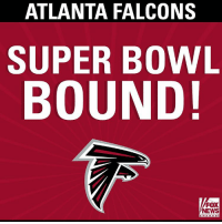 Congratulations to the NFC Champions - Atlanta Falcons!: ATLANTA FALCONS  SUPER BOWL  BOUND!  FOX  NEWS Congratulations to the NFC Champions - Atlanta Falcons!