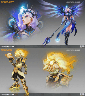 thetallflower:  Atlantic Mercy and Pacific Lúcio by Ben Zhang.: ATLANTIC MERCY  CONCEPT ARTIST BEN ZHANG  BIZAR  DVERWATCH  © 2019 Blizzard Entertainment, Inc. All rights reserved.   PACIFIC LUCIO  CONCEPT ARTIST:BEN ZHANG  BIZAR  DVERWATCH  O 2019 Blizzard Entertainment, Inc. All rights reserved. thetallflower:  Atlantic Mercy and Pacific Lúcio by Ben Zhang.