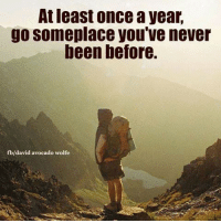 Memes, Avocado, and Wolf: Atleast once a year,  go someplace you've never  been before.  b/david avocado wolfe <3 David Wolfe