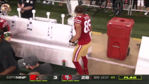 BREAKING: NFL fines George Kittle for this unnecessary hit on Baker Mayfield https://t.co/0BNGp6mHoe: ATO  FLAG  3RD 10:37 40  3-0 28  3  2-2  ESFRMNF BREAKING: NFL fines George Kittle for this unnecessary hit on Baker Mayfield https://t.co/0BNGp6mHoe