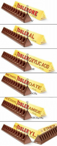 Chocolate, Chemist, and Acid: ATOBLERAL  ATOBLEROXYLIC ACID  METHYL TOBLEROATE  DIOBLERYL For all chocolate lovers out there 😂😂