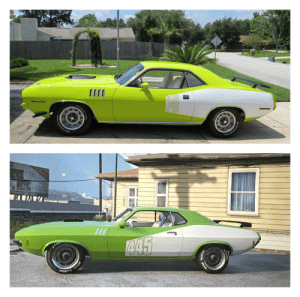 1971 Plymouth Cuda I wish we could have the billboard in black like how many of them were in real life: ATOM  445  TOMIC  ORAC RADI  DRAG 1971 Plymouth Cuda I wish we could have the billboard in black like how many of them were in real life