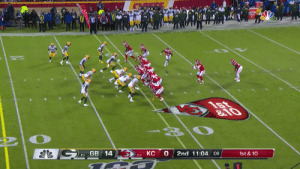 #NationalTightEndsDay isn't over yet.  Matt Moore lofts it to @TKelce for the 29-yard TD! #ChiefsKingdom  📺: #GBvsKC on NBC 📱: NFL app // Yahoo Sports app Watch free on mobile: https://t.co/mDf84f0ihz https://t.co/ctYHHUiQUz: ATOR  1st  &10  GB 14  0  КС  2nd 11:04 :08  1st &10  6-1  5-2 #NationalTightEndsDay isn't over yet.  Matt Moore lofts it to @TKelce for the 29-yard TD! #ChiefsKingdom  📺: #GBvsKC on NBC 📱: NFL app // Yahoo Sports app Watch free on mobile: https://t.co/mDf84f0ihz https://t.co/ctYHHUiQUz