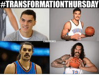ATRANSFORMATIONTHURSDAY  @NBAMEMES Steven Adams turned into a caveman. #Thunder Nation