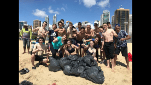 me and a few friends from my class chilling in Beira Mar, Fortaleza - Brazil after cleaning some trash. don't let #trashtag die!: ATRESSA  adida me and a few friends from my class chilling in Beira Mar, Fortaleza - Brazil after cleaning some trash. don't let #trashtag die!