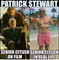 Memes, Hugh Jackman, and 🤖: ATRICK STEWART  SENIOR CITIZEN SENIORCITIZEN  ON FILM  IN REAL LIFE DO YOU THINK @SIRPATSTEW DESERVES AN OSCAR for his performance in LOGAN?? Comment YES or NO then tell us WHY! (📜Best comments will be read on tonight's podcast!) 🚨TONIGHT the Partynerdz will have our full podcast review of LOGAN!!🎬 We will give you our RAW-UNFILTERED opinion of this final Hugh Jackman as Wolverine installment!⚔️ 📲 OUR LINES WILL BE OPEN for you to call in and give us YOUR OPINION!! 🎤Join Us at 6:45ET by clicking the link in our BIO or listen live on www.wildfireradio.com Logan nerds movies wolverine fox deadpool patrickstewart hughjackman x23 xmen films review 4stars amazing acting rottentomatoes mutants legion wow comicbooks marvel boxofavocados professorx newmutants dreamcast google goodmorning triggered