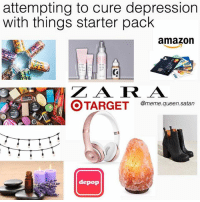 no amount of led lights and essential oil's can fix the chemical imbalance but at least my room has achieved that chill goodvibe zen™ look (rp:@meme.queen.satan❣️): attempting to cure depression  with things starter pack  amazon  Z A RA  @meme.queen.satan  depop no amount of led lights and essential oil's can fix the chemical imbalance but at least my room has achieved that chill goodvibe zen™ look (rp:@meme.queen.satan❣️)