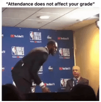 "College, Finals, and Mood: ""Attendance does not affect your grade""  NBA  FINALS 6bc  TV  NALS  YoulobaTV Mood in college 😭😂"