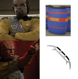 Star Trek, Weapons, and Worf: ATTENTION  AT Worf hates dishonorable weapons