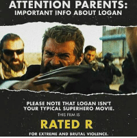 😂😂duhh Alamo logan x23 xmen laurakinney alamodrafthouse ratedr mutantlivesmatter: ATTENTION PARENTS:  IMPORTANT INFO ABOUT LOGAN  PLEASE NOTE THAT LOGAN ISN'T  YOUR TYPICAL SUPERHERO MOVIE.  THIS FILM IS  RATED R  FOR EXTREME AND BRUTAL VIOLENCE. 😂😂duhh Alamo logan x23 xmen laurakinney alamodrafthouse ratedr mutantlivesmatter