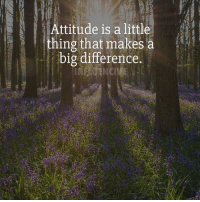 """Do you agree? Comment """"Yes!"""" below!: Attitude is a littl  thing that makes a  big difference. Do you agree? Comment """"Yes!"""" below!"""
