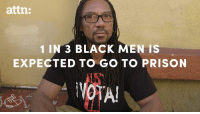 It's time to stop criminalizing black and Latino men. #MoreThanTime: attn:  1 IN 3 BLACK MEN IS  EXPECTED TO GO TO PRISON  NOTA! It's time to stop criminalizing black and Latino men. #MoreThanTime