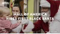 This major mall is taking a stand on Black Santas.: attn:  ALL OF AMERICA  HIRES FIRST BLACK SANTA  AP  IMAGES/LEILA NAVIDI This major mall is taking a stand on Black Santas.