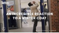 This homeless man's reaction to receiving a winter coat is going viral.: attn:  onds  N INCREDIBLE REACTION  TO A WINTER COAT  GIFTS FOR THE HOMELESS  VIA YOUTUBE/ This homeless man's reaction to receiving a winter coat is going viral.