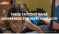 "Memes, Tattoos, and Tattoo: attn:  THESE TATTOOS RAISE  AWARENESS FOR MENTAL HEALTH  ""GETTING MY TATTOO ANXIOUS HIPPIE VIA YOUTUBE Meet the people getting tattoos to fight the stigma of mental illness (via ATTN: Video)."
