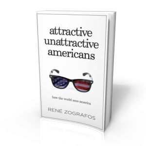 """meme-mage:    Attractive Unattractive Americans: How The World Sees America Paperback – August 3, 2015 by René Zografos  (Author)     Almost every human being on the planet today knows something - and feels something - about America. It's the """"land of the free and the home of the brave."""" It's responsible for hamburgers and Coca-Cola and color TV. It's the center of the universe, with the greatest athletes, tallest buildings, most famous movie stars, and biggest dreamers. But what does a world that contains seven billion people really think about the most talked about - and controversial - nation on earth? This is the question that inspired René Zografos to spend seven years interviewing people from seven continents to pen the definitive guide to the U.S.A.'s global reputation. In ATTRACTIVE UNATTRACTIVE AMERICANS, Zografos - an award-winning Norwegian-Greek author of eight books and veteran journalist - brings together the voices of thousands of people from around the world to highlight their opinions of Americans and the country they live in. From Mexico-born 'Dog Whisperer' Cesar Millan and a Bangkok-based tailor named Marco, to American girl-obsessed Italian teenagers and Swedish ex-pats living in the U.S.A., Attractive Unattractive Americans is chock-full of hundreds of unexpected insights, opinions, compliments and criticisms about the so-called """"greatest country on earth."""" It's a fascinating, not-to-be-missed exploration of culture, politics, philosophy, and the American Dream the likes of which has never before been seen in one place. Among the timely, unusual, and exceptionally entertaining questions ATTRACTIVE UNATTRACTIVE AMERICANS addresses include: · Are Americans liked or disliked when traveling abroad? · Do people from other countries actually care about what's going on in America? · Is American music, film, fashion, and food as influential as we think it is? · How do the great American cities actually stack up against the Hollywood portrayals of them?"""