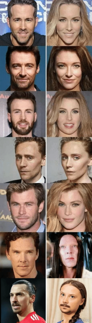 If These Famous Guys Were Women: Au  AA  FaceApp If These Famous Guys Were Women