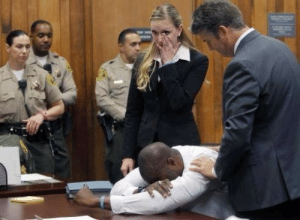 au-revoir-mon-amie:  affablyevil:daintyislandgorl:tampa-2:theblackdelegate:  The woman who falsely accused football star Brian Banks of raping her is being forced to pay big time.   A judge has ordered that the woman pay $2.6 million to Banks for ruining his life with false allegations. The lies caused him to lose numerous scholarship offers to college and also led to a prison sentence of over five years.  Wanetta Gibson told lies to authorities when she accused Banks of assaulting her when the two attended Long Beach Poly High, where Banks was both a student and football star.   After the conviction, the girl sued the school district and received $1.5 million. The conviction was overturned when Gibson was secretly recorded admitting that she made the whole thing up.  Years later, Gibson confessed and Banks was released. The woman is being forced to repay a $750,000 settlement to the school, plus attorneys fees, interest and another $1 million in punitive damages  Source: http://newsone.com/2597559/brian-banks-wanetta-gibson/  Thank god  Please spread this. She should have to do at least as much prison time as he did.   He was the best linebacker in the country. He had a full ride to USC and she ruined it. She ruined his whole life.Also not mentioned here is that he plead guilty to avoid a life sentence because his lawyer said that no jury would believe that a black man didn't do it. I'm not blaming the lawyer at all. He's an expert. But his expert advice was that society would condemn this boy to prison for a crime he never committed. Think about that shit.: au-revoir-mon-amie:  affablyevil:daintyislandgorl:tampa-2:theblackdelegate:  The woman who falsely accused football star Brian Banks of raping her is being forced to pay big time.   A judge has ordered that the woman pay $2.6 million to Banks for ruining his life with false allegations. The lies caused him to lose numerous scholarship offers to college and also led to a prison sentence of over five years.  Wanetta Gibson told lies to authorities when she accused Banks of assaulting her when the two attended Long Beach Poly High, where Banks was both a student and football star.   After the conviction, the girl sued the school district and received $1.5 million. The conviction was overturned when Gibson was secretly recorded admitting that she made the whole thing up.  Years later, Gibson confessed and Banks was released. The woman is being forced to repay a $750,000 settlement to the school, plus attorneys fees, interest and another $1 million in punitive damages  Source: http://newsone.com/2597559/brian-banks-wanetta-gibson/  Thank god  Please spread this. She should have to do at least as much prison time as he did.   He was the best linebacker in the country. He had a full ride to USC and she ruined it. She ruined his whole life.Also not mentioned here is that he plead guilty to avoid a life sentence because his lawyer said that no jury would believe that a black man didn't do it. I'm not blaming the lawyer at all. He's an expert. But his expert advice was that society would condemn this boy to prison for a crime he never committed. Think about that shit.