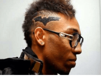 Aubameyang: You know Batman?  Barber: I've got you fam.: Aubameyang: You know Batman?  Barber: I've got you fam.
