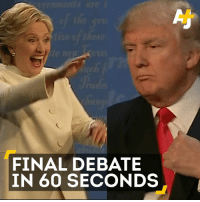 Finals, Memes, and 🤖: Auch  FINAL DEBATE  IN 60 SECONDS Y'all, here's your 60-second rundown of the final presidential debate. Enjoy!