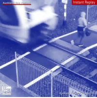 """Crazy, Memes, and Foxnews: Auckland Hew Zealand  Instant Replay """"Crazy Video: Auckland Transport is appealing for pedestrians to be more aware of its new electric trains, following one woman's extremely narrow escape. The trains, it says, are quieter than those they have replaced, making it all the more important for people to pay attention at level crossings."""" (Via @foxnews)"""