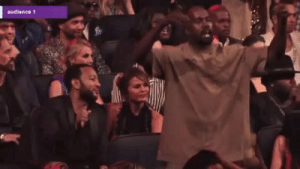 kuwkimye:  Kanye dancing during The Weeknd's performance at the 2015 VMAs   who gives a flying potato wedge about this cocky  dumb piece of shit im all about Gabourey Sidibe and Jussie Smollett's fine ass and their beautiful friendship. Like you know she said some shit that made him crack up : audience 1 kuwkimye:  Kanye dancing during The Weeknd's performance at the 2015 VMAs   who gives a flying potato wedge about this cocky  dumb piece of shit im all about Gabourey Sidibe and Jussie Smollett's fine ass and their beautiful friendship. Like you know she said some shit that made him crack up