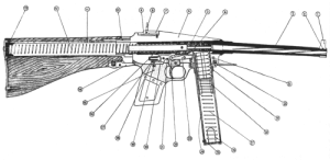 augfc: robthegray:  augfc:  Cross-section sketch of the French MAS-38 submachine gun.   I think the barrel may be crooked  Entirely intentional, that is how the gun was built.    And THIS is why we don't let the french design ANYTHING on their own anymore. : augfc: robthegray:  augfc:  Cross-section sketch of the French MAS-38 submachine gun.   I think the barrel may be crooked  Entirely intentional, that is how the gun was built.    And THIS is why we don't let the french design ANYTHING on their own anymore.