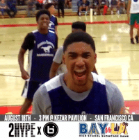 Memes, School, and Game: AUGUST 18TH 3PM O KEZAR PAVILION SAN FRANCISCO CA  HIGH SCHOOL SHowCASE GAME First look at the rosters for the inaugural Bay Vs LA High School Showcase 👀 Featuring ESPN's #1 Jr, Evan Mobley, and older brother, five star senior Isaiah Mobley. Get your tix here for 25% off 👉👉https://t.co/VLqNkoSnsi   Doors open @ 2:00PM!! https://t.co/jGvIo0VVf4
