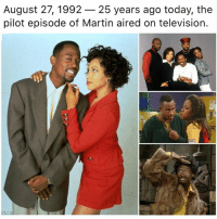 Martin, Memes, and Television: August 27, 1992- 25 years ago today, the  pilot episode of Martin aired on television.  o Pox