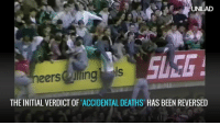Dank, 🤖, and Suse: AUNILAD  SUSE  cheers lling ls  THE INITIAL VERDICT OF ACCIDENTAL DEATHS HAS BEEN REVERSED It took 27 years but there is finally justice for the 96 victims of the Hillsborough disaster and their families.