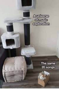 Songs, MeIRL, and Same: Auniverse  ofmusic  exploration  The same  20 songs meirl