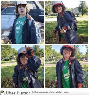 failnation:  My son showing off his Dustin costume we put together!: AUPAC  WIS  Uber Humor  I did not have sexual relations with that woman failnation:  My son showing off his Dustin costume we put together!