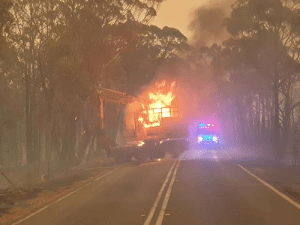 AUSTRALIA IS ON FIRE So many Homes, Wildlife and Habitats Have been Destroyed to these Catastrophic Fires. The photo Below is from a mate of mine who's Excavator Caught Fire helping Defend The NSW Fire Rescue Team From these Out of control Fires!: AUSTRALIA IS ON FIRE So many Homes, Wildlife and Habitats Have been Destroyed to these Catastrophic Fires. The photo Below is from a mate of mine who's Excavator Caught Fire helping Defend The NSW Fire Rescue Team From these Out of control Fires!