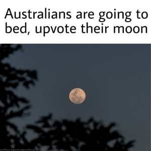 Goodnight by fuzzysoulpolice MORE MEMES: Australians are going to  bed, upvote their moon  u/fuzzysoulpolice Goodnight by fuzzysoulpolice MORE MEMES