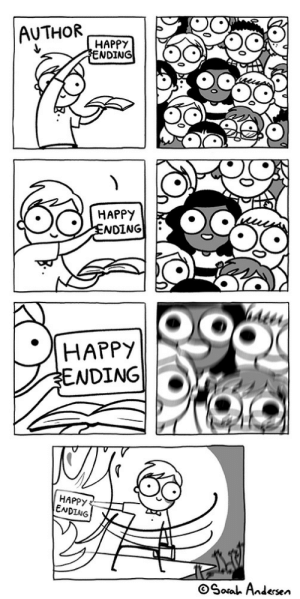 Martin, George RR Martin, and Happy: AUTHOR  HAPPY  WDING  HAPPY  NDING  Ater  NDING  HAPPY  ENDING  Soa Andersen Esperemos que George RR Martin no defraude (y la serie no lo cambie)